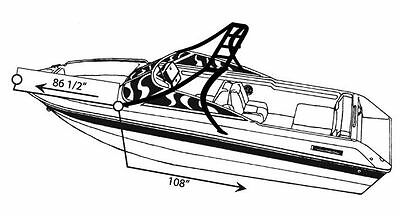 7oz BOAT COVER SUPRA LAUNCH 24 SSV W/SKI TOWER 2005-2010