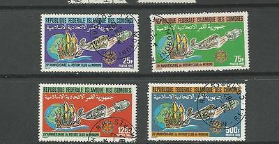 COMORO ISLANDS SC 619 - 622 SET / 4 ROTARY  CLUB ANNIVERSARY ISSUES CTO