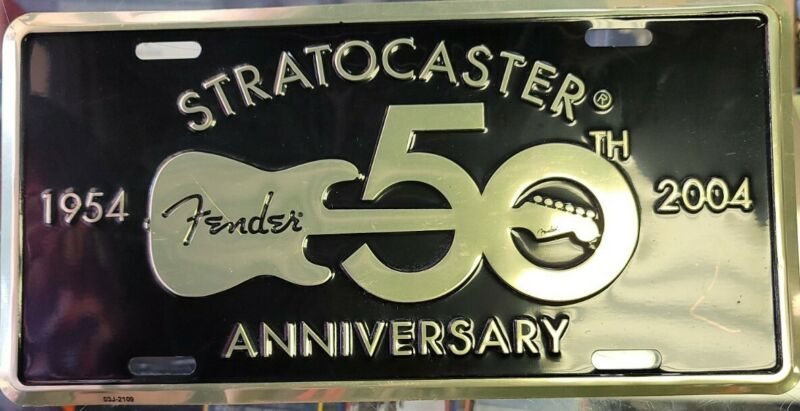 Fender Stratocaster 50th Anniversary 1954-2004 License Plate *Used*