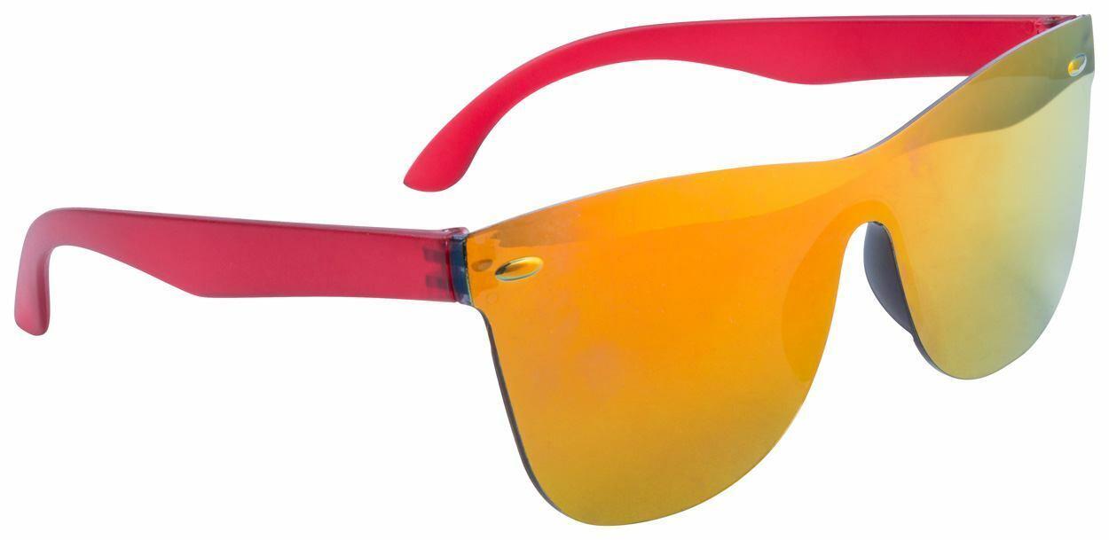 Rahmenlose Sonnenbrille aus Kunststoff mit Metallic-Gläsern