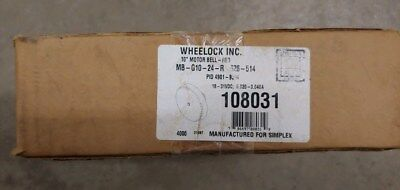 Wheelock 108031 Simplex 4901-930410 Motor Bell - Red Fire Alarm