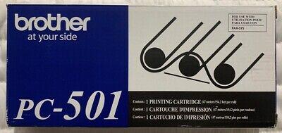 Brother Pc-501 Printing Cartridge Fax-575 New Genuine Oem In Retail Box Freeship
