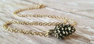 Pinecone necklace Gold Bronze USA Seller Botanical Jewelry Fashion Pendant](Pinecone Jewelry)