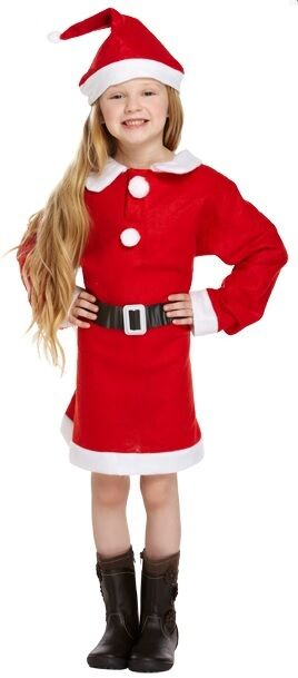 26b601a5fec3 Girls Mrs Santa Claus Father Christmas Xmas Fancy Dress Costume ...