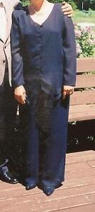 Navy Blue elegant evening wear pant suit Prince George British Columbia image 1