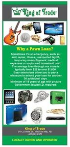 Need Cash Today? Try a Pawn Loan at King of Trade
