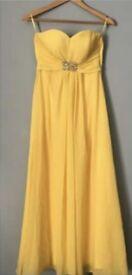 Lemon Yellow Prom Dress