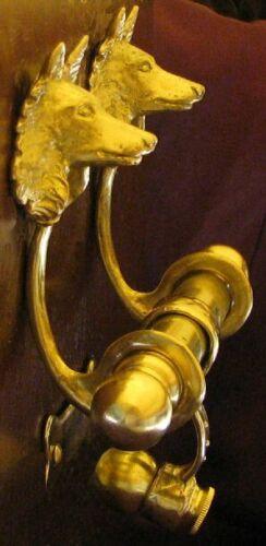 BELGIAN SHEEPDOG, GROENENDAEL, TERVUREN Bronze DUET Door Knocker