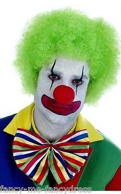Damen Herren Erwachsene Neon Grün Afro Perücke Zirkus - Erwachsene Grüne Clown Perücke