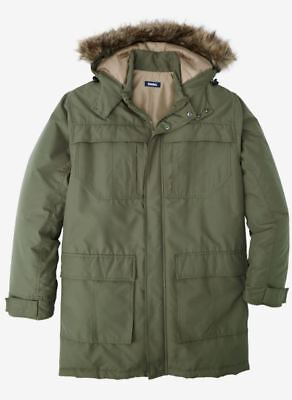 NWT MEN PLUS SİZE  BİG AND TALL Arctic Snorkel Parka MSRP $209.99  -