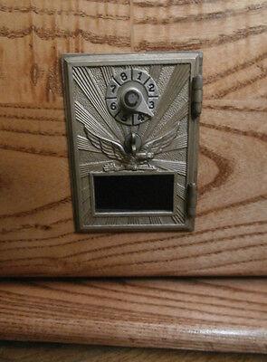 Bank  Handmade With Antique Postal Post Office Door And Oak