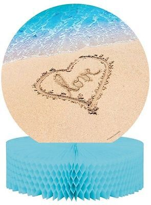 Beach Love Centerpiece Honeycomb Wedding Bridal Shower Luau Party](Beach Wedding Shower Decorations)