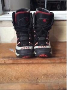 Size six snowboard boots