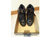 Nike Jordan 1 Flight 4 Prem Black/Gold Size uk 7