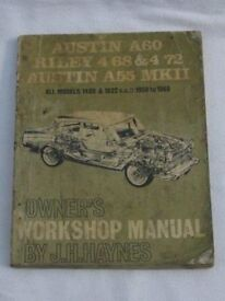 Workshop Manual - Austin A60 etc
