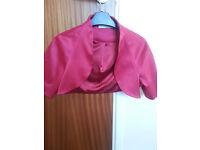 Cerise size 12 Shrug/Jacket