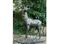 Large stag deer garden statue ornament