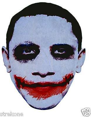 Protest Anti President Barack OBAMA JOKER Face Large Head - Window Cling Sticker Anti Barack Obama Stickers