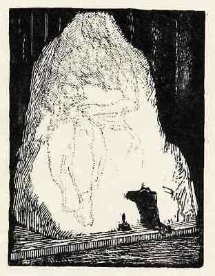 MICHELANGELO  Robert BUDZINSKI  - um 1920 Holzschnitt