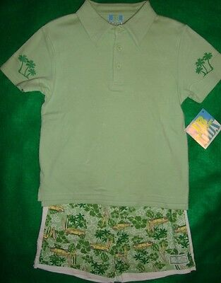 Lil/jelly/beanboy'ssurf/boards/cars/palm/trees/short/set (7) N/w/tags Nice