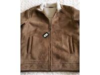 Men's Sheepskin Style Jacket