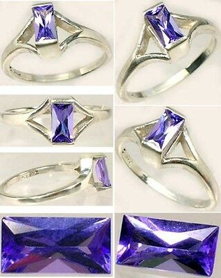 Handcrafted Flawless ½ct Purple-Blue Tanzanite Kilamanjaro Tanzania Sterling Sz7
