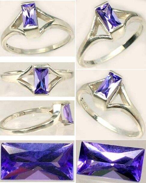 Tanzanite Ring ½ct Vintage Flawless Purple-Blue Kilimanjaro Tanzania Handcrafted