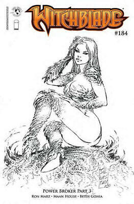 Witchblade 184 Marc Silvestri Sketch Variant Ron Marz Maan House Top Cow NM