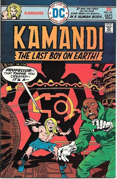 Kamandi Last Boy On Earth Comic Book #33, DC Comics 1975 VERY FINE-