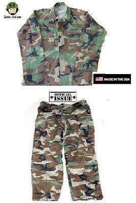 US Army Tarnanzug Hose Jacke coat pants BDU Uniform woodland camouflage SL Airsoft Funsport