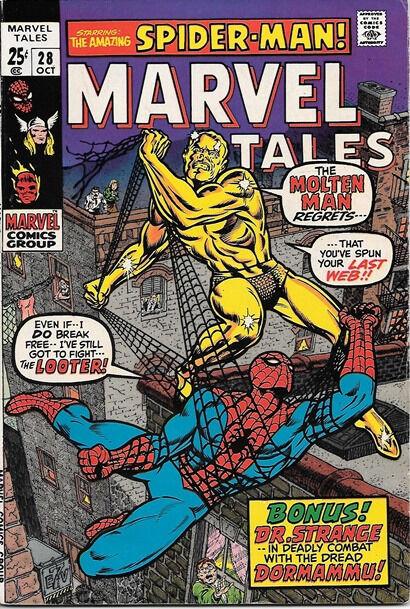 Marvel Tales Comic Book #28 Marvel Comics 1970 FINE+