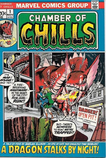 Chamber of Chills Comic Book #1, Marvel Comics 1972 FINE+
