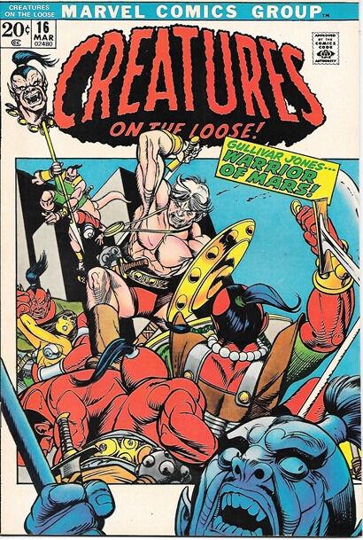 Creatures On The Loose Comic Book #16, Marvel Comics 1972 VERY FINE