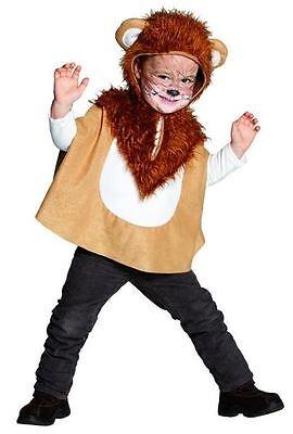 Löwen-Cape Für Kinder NEU - Mädchen Karneval Fasching Verkleidung (Löwen Kostüm Für Kinder)