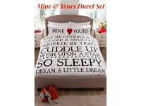 Mine and Yours Duvet Set