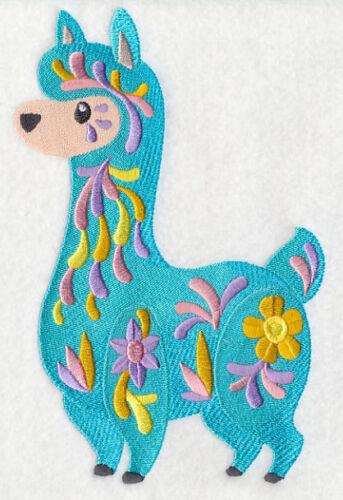 Embroidered Sweatshirt - Flower Power Baby Llama M7042