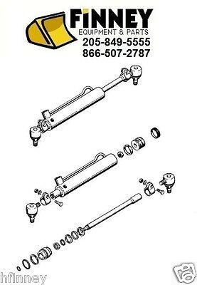 Case 580b 580c 580d 580e 580se 580e 4wd Power Steering Cylinder 234449a1 D92099