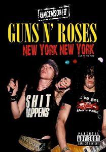 GUNS N' ROSES  -  UNCENSORED - LIVE AT THE RITZ - NEW YORK NEW YORK DVD