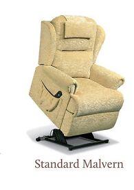 RISER RECLINER MOBILITY CHAIR - Sherborne Malvern FABRIC - Madrid Nutmeg / Standard - Single Motor