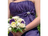 Alexia Cadbury's Purple Bridesmaid Dress