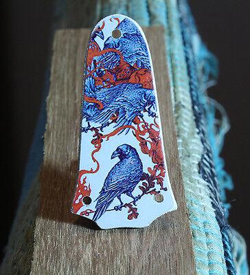 Truss rod cover BIRDS  Fits Taylor T5 GS mini 3 holes guitar Handmade