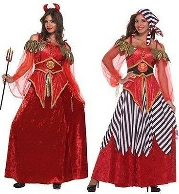 2-in-1 Pirate Devil Caribbean Wench Woman Lady Dress Up Halloween Adult Costume