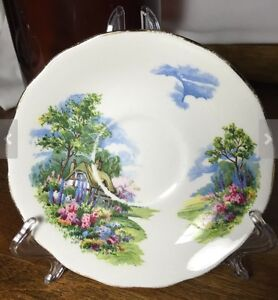 """1950's Royal Vale """"Country Cottage"""" tea cup and saucer Peterborough Peterborough Area image 2"""