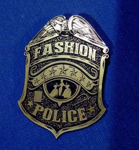 CUSTOM FASHION POLICE BADGE PROP EURO BOHO