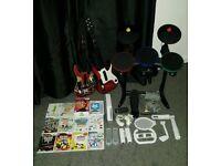Nintendo Wii Bundle Guitar / Band Hero Zumba