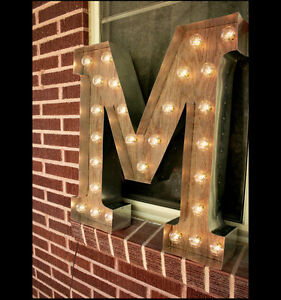 "Marquee Letter ""M"" 36 inches"