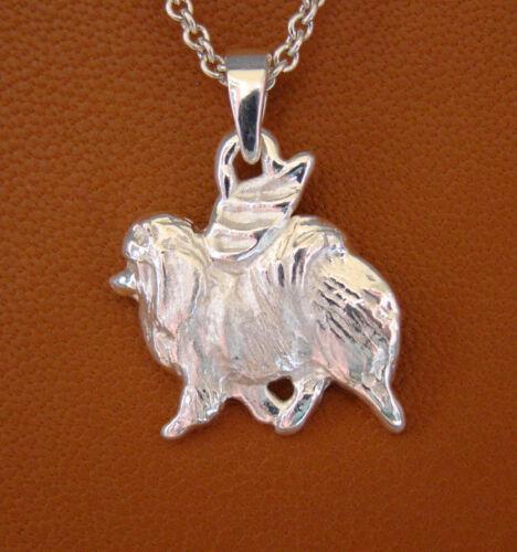 Sterling Silver Pomeranian Angel Pendant