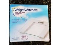 Digital Slim Glass Electric weight scale by Weight Watchers
