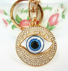 Blue-Eye-Creative-Charm-Lovely-Pendent-Crystal-Purse-Bag-Keyring-Key-Chain-Gift