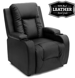 Cinema / Reclining Leather Chair - As New
